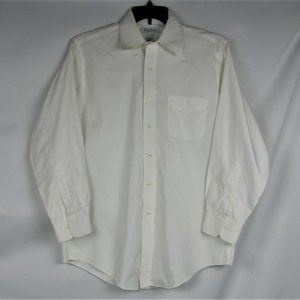 BROOKS BROTHERS Brookease Men White Dress Shirt
